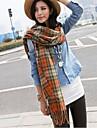 Women's Winter Warm Imitation Wool Grid  Scarves