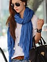 Women's  Candy Color Wrinkle Towel Voile Scarves
