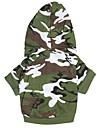 Hund Huvtröjor Hundkläder Andningsfunktion Mode Kamouflage Grön Kostym För husdjur