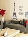 decalcomanii autocolante de perete de perete Turnul Eiffel autocolant decorativ
