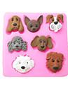 șapte câini de carton de copt fondantă de tort choclate bomboane mucegai, l7.2cm * w7.1cm * h1cm