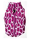 Chat Chien Manteaux Gilet Vetements pour Chien Leopard Rouge Rose Terylene Costume Pour les animaux domestiques Homme Femme Garder au