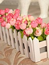 ramură Poliester Trandafiri Față de masă flori Flori artificiale 30 x 10 x 10(11.8\'\' x 3.94\'\' x 3.94\'\')