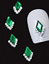 10st gröna markis 3d strass diy legering tillbehör nagel konst dekoration