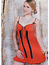 Damen Street Schick / Anspruchsvoll Baumwolle Huelle Kleid - Patchwork, Einfarbig