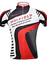 WOLFBIKE Homme Manches Courtes Maillot de Cyclisme Velo Maillot, Sechage rapide, Respirable, Anti-transpiration Polyester
