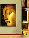 e-home® stretch eșuat artă panza de imprimare efectul Buddha LED flash