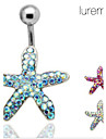 placat lureme®silver oțel inoxidabil pietre stea de mare buric / ureche piercing (culoare aleatorii)