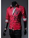 MEN - Cămăși Casual (Amestec Bumbac) Informal Guler cămașă - Mânecă Lungă