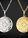 Dame Coliere Choker Coliere cu Pandativ Medalioane Coliere Coliere Vintage Pandative Circle Shape Geometric Shape Articole de ceramică