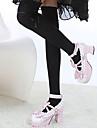 Ciorapi strâmți, lungi Șosete / ciorapi Lolita dulce Lolita dulce lolita Pentru femei Alb Negru Maro Lolita Accesorii Mată Inimă Șosete