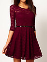 ORG femei Lace Dress Lace Slim Slim Dress