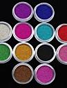 12 pcs Nail Smycken / Glitter & Poudre Frukt / Blomma / Abstrakt Vackert Dagligen Nail Art Design / Tecknat / Punk