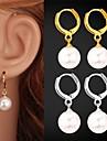 Cercei Picătură Perle Pietrele Lunilor costum de bijuterii Perle Imitație de Perle Placat cu platină Placat Auriu Bijuterii Pentru Nuntă