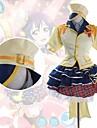 Inspirado por Amor en Vivo Umi Sonoda Anime Disfraces de cosplay Trajes Cosplay Retazos Manga Corta Camisas / Top / Falda Para Mujer / Satin