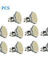 3W 300-350 lm GU10 LED-spotlights 60 lysdioder SMD 3528 Varmvit Kallvit AC 220-240V