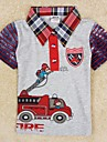 Children's T shirt Boys Besigner Kids Brand Tops Printed Cartoon Fireman Children's Clothing Boys Tees