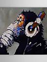 HANDMÅLAD Djur Horisontell, Klassisk Moderna Traditionell Duk Hang målad oljemålning Hem-dekoration En panel