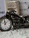 moda decor biroul de acasă model de motocicletă călătorie ceas cu alarmă de birou