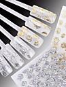 24 Vattenövergångsklistermärke 3D Nail Stickers Blomma Mode Bröllop Dagligen Hög kvalitet