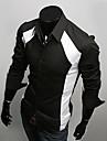 bărbați Bigman lui de moda culori asortate clasic 3D subțire tricou cu maneca lunga