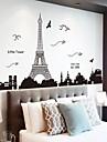 Peisaj Natură moartă Romantic Modă Arhitectură Fantezie Perete Postituri Autocolante perete plane Autocolante de Perete Decorative, Vinil