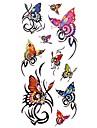 1 - Séries animales - Multicolore - Motif - 18.5*8.5cm - Tatouages Autocollants Homme/Adulte/Adolescent