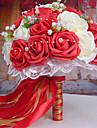 1 Une succursale Mousse de polystyrene Roses Fleur de Table Fleurs artificielles