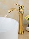 Moderne Diffusion large Jet pluie Soupape ceramique 1 trou Mitigeur un trou Ti-PVD, Robinet lavabo