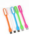 10pcs 1.2w usb portable conduit usb lumiere flexible alimente lampe pour ordinateurs portables PC portables (couleur aleatoire) conduit