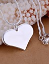Női Nyaklánc medálok Szív Szerelem hölgyek Divat Ezüst Nyakláncok Ékszerek 1db Kompatibilitás Esküvő Parti Napi Hétköznapi