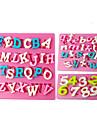 Four-C silikon cupcake formar nummer fondant formar, fondant dekorera verktyg levererar färgen rosa 3pcs / set