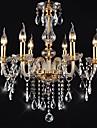 candelabre 6 lumini de epocă de aur în cristal caracteristică de înaltă calitate