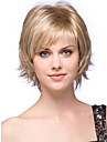 Human Hair Capless Wigs Human Hair Wavy Bob Haircut / Layered Haircut / With Bangs Side Part Short Capless Wig Women's