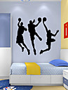 Oameni Desene Animate Sporturi Perete Postituri Autocolante perete plane PVC Pagina de decorare de perete Decal Perete