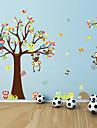 Animals Botanical Cartoon Wall Stickers Plane Wall Stickers PVC Home Decoration Wall Decal Wall