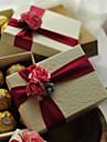 În Formă de Cub Hârtie cărți de masă Favor Holder Cu Flori Panglici Cutii de Savoare Cutii de Cadouri