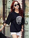 Pentru femei Mărime Plus Size Tricou Bumbac Șic Stradă Imprimeu