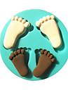 amprenta picior copil silicon fondantă de matrite tort mucegai ciocolată pentru copt bucătărie zahăr decorare tort instrumentul