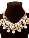 Pentru femei Coliere Minge Perle Diamante Artificiale Aliaj La modă European bijuterii de lux Bijuterii Statement Multistratificat Elegant