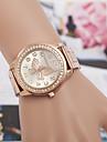 yoonheel Pentru femei Simulat Diamant Ceas Ceas La Modă Quartz imitație de diamant Metal Bandă Argint Auriu Roz auriu