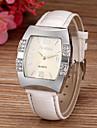 Damen Uhr Armbanduhr Diamond Watch Quadratische Uhr Quartz Gestepptes PU - Kunstleder Weiss / Blau / Rosa Imitation Diamant Analog damas Glanz Simulierte Diamant-Uhr Modisch Rose Blau Rosa / Ein Jahr