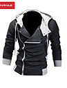 MANWAN WALK®Men's Casual Solid Color Zip Up Hoodie,Plus Size,6XL