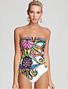 bikini căpăstru femei, wireless floral / căptușit poliester sutiene