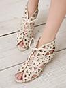 Pentru femei Pantofi Imitație de Piele Primăvară Vară Confortabili Toc Jos pentru Birou și carieră Rochie Negru Alb Maro