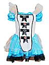 Alice in Wonderland Cosplay Kostymer/Dräkter Dam Halloween Karnival Nyår Festival / högtid Halloweenkostymer Vit+Blå Lappverk