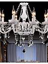 putian 8 lumieres Bougie Lustre Lumiere d'ambiance - Cristal, 110-120V / 220-240V, Blanc Creme / Blanc, Ampoule non incluse / 20-30㎡