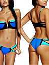 Femei Bikini Femei Cu Bretele Mulată Push-up/Sutiene cu Bureți Nailon