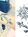 1 Tatueringsklistermärken meddelande Ogiftig Ländrygg VattentätBarn Dam Herr Vuxen Tonåring Blixttatueringtillfälliga