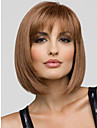 Human Hair Capless Wigs Human Hair Straight Bob With Bangs Short Capless Wig Women\'s